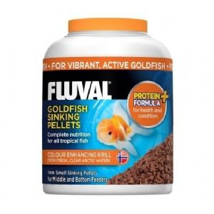Fluval Coldwater Goldfish Small Sinking Fish Pellet Food Aquarium Hagen